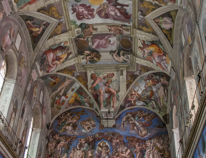 art on the ceiling